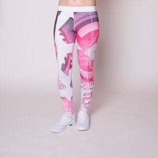 Label 23 Mechanic 23 Leggings (Weiß-Pink)