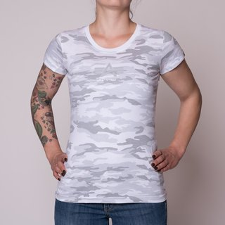 Alpha Industries Basic T-Shirt Frauen (Weiß-Camo)