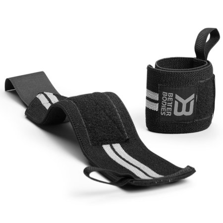 Better Bodies Elastic Wrist Wraps (Schwarz)