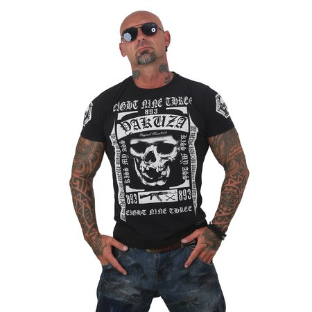Yakuza Herren T-Shirt Kiss my XXX Two Face TSB 12007 (Schwarz)