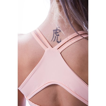 Nebbia Beautiful Inside and Out Frauen Hinten Offenes Mini Top 620 (Salmon)