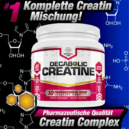 NutraCell Labs Decabolic Creatine Pulver (225 g)