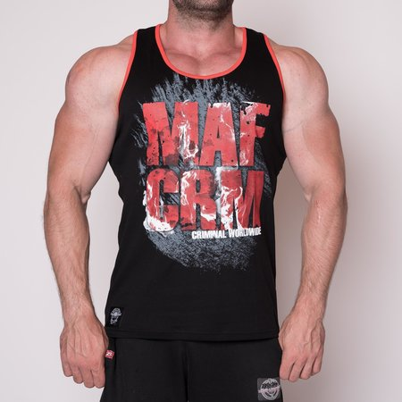 Mafia and Crime Herren Tanktop MAF CRM (Schwarz)