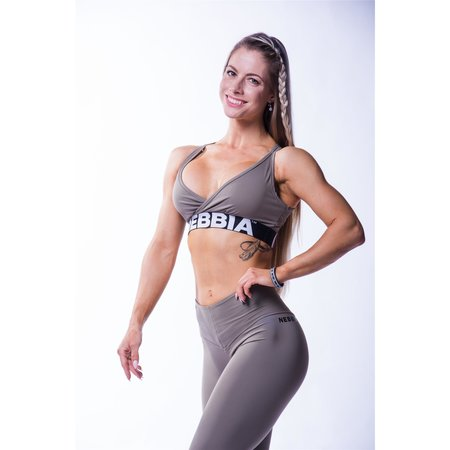 Nebbia Beautiful Inside and Out Frauen Hinten Offenes Mini Top 620 (Mocha)