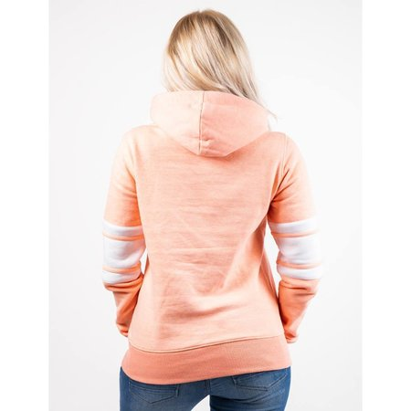Label 23 Damen Kapuzensweatshirt LABEL (Lachs Meliert)