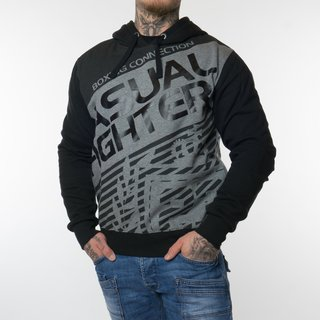 Label 23 Casual Fighter Kapuzensweatshirt (Schwarz)